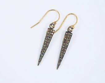 Diamond Dagger Earrings