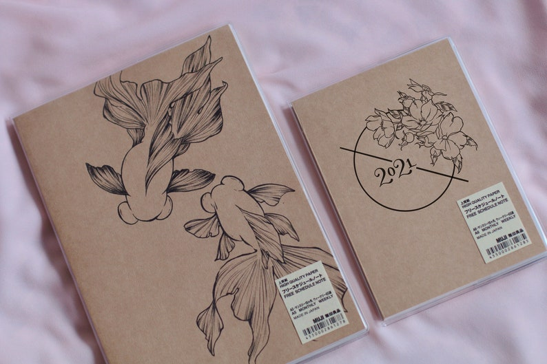 Hand-drawn Planner Cover Illustrated Planner Cover image 0