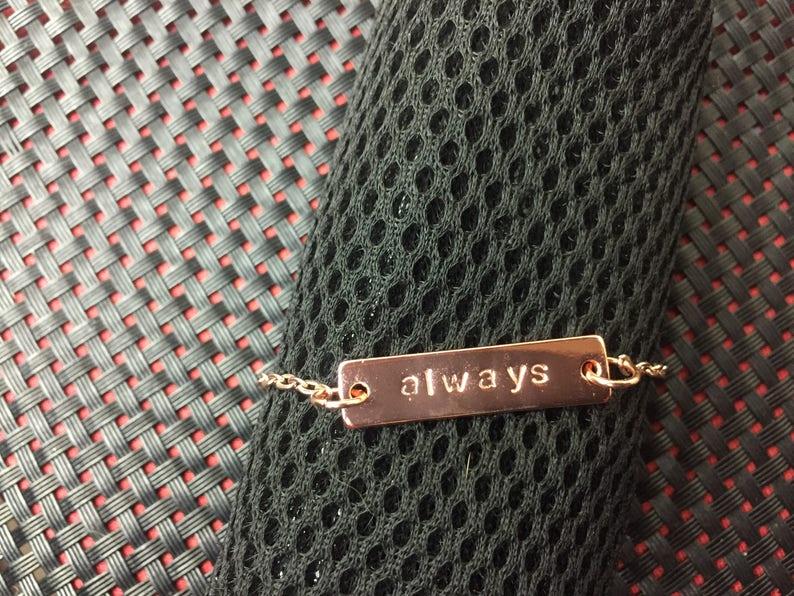 Bridesmaid gift Name Bracelet Bracelets for Bridesmaids Rose Gold Bar Bracelet Bracelets for women Women gift Anniversary gift for her