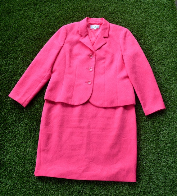 Vintage 80s Suit, Jacket and Skirt Set, SIze 16, 8