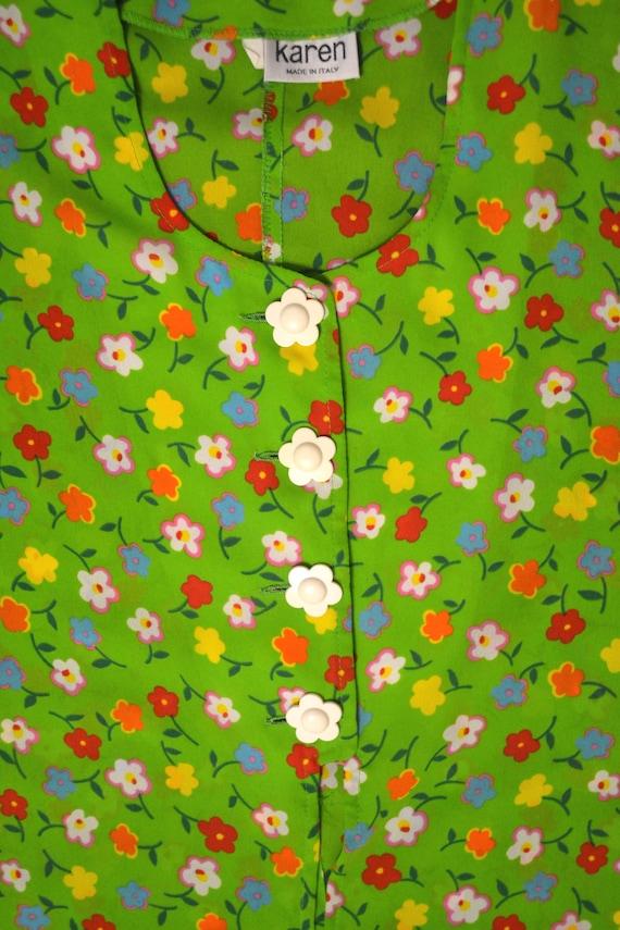Vintage 90s Dress, Lime Green Dress, Grunge Dress,