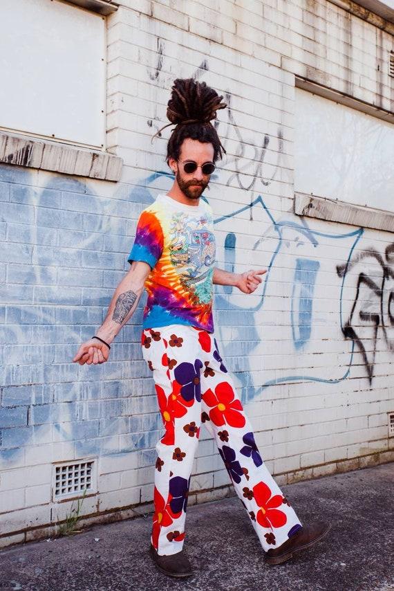 Vintage 60s Pants, 60s Gogo Pants, 60s Festival Pa