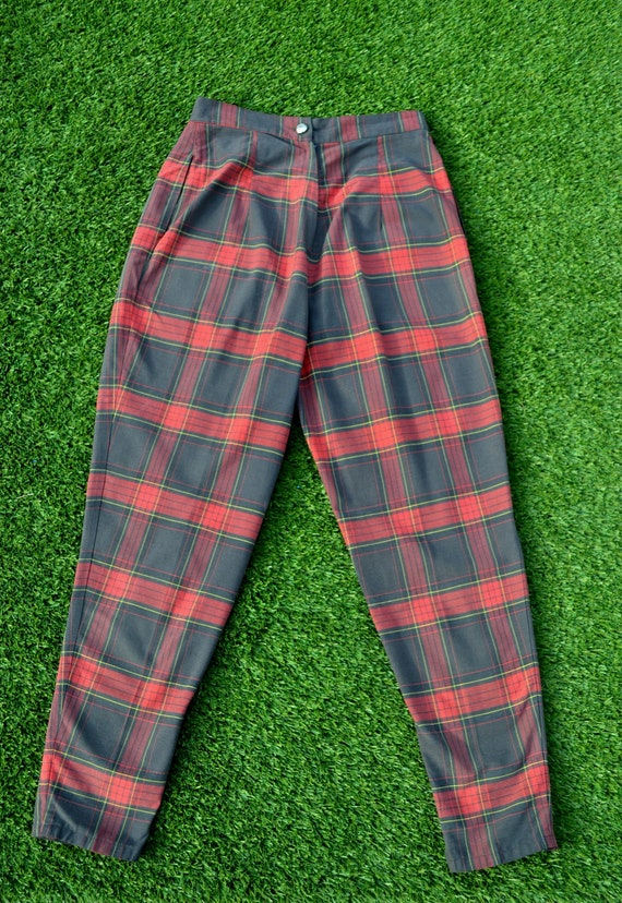 Vintage 70s Plaid Golf Pants, Womens Size 12, 70s