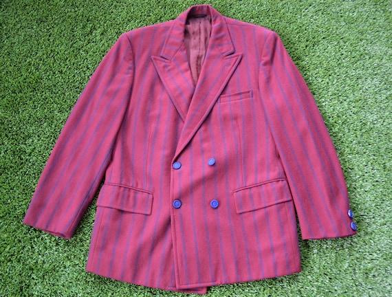 Vintage 70s Burgundy Jacket, 70s Mafia Style Jacke