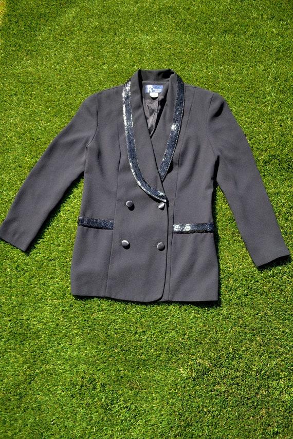 Vintage 80s Suit Jacket. 1980s Suit Jacket. Tuxedo