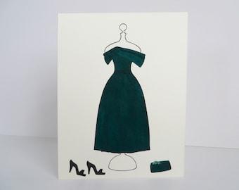 Octavia Spencer | Green Oscars Gown | Handmade Card