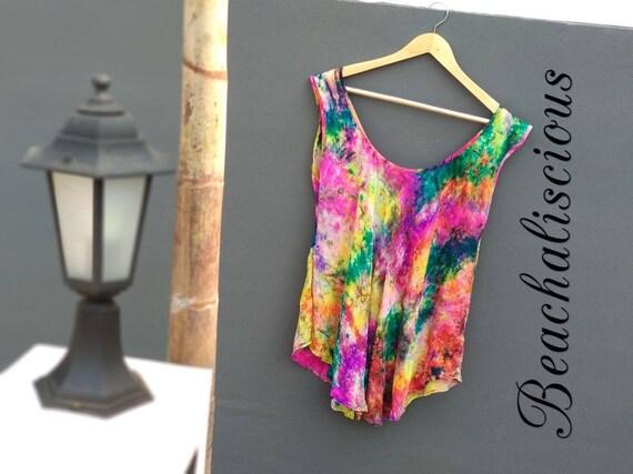 0613adb491308 Rainbow Splash Women s Beach Swimsuit Cover Ups Pareo