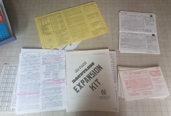 Vintage Air Force Plane To Plane Combat in Europe: 1939 - 1945 Avalon Hill  Game Company PLUS Expansion Kit for Air Force and Dauntless 1978