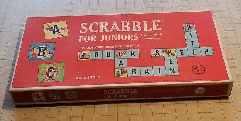 Scrabble For Juniors by Selchow & Righter Company 1964