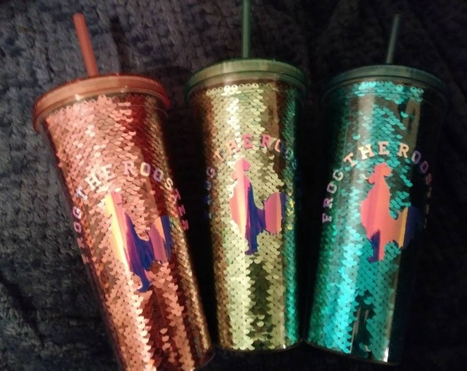 24oz Mermaid Plastic Tumbler With Holographic Logo