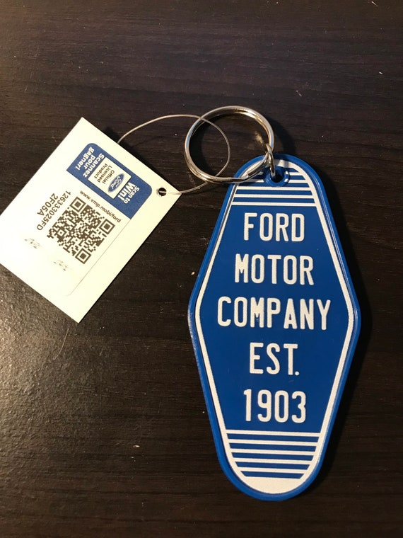 Ford Motor Hotel Keychain (double sided)