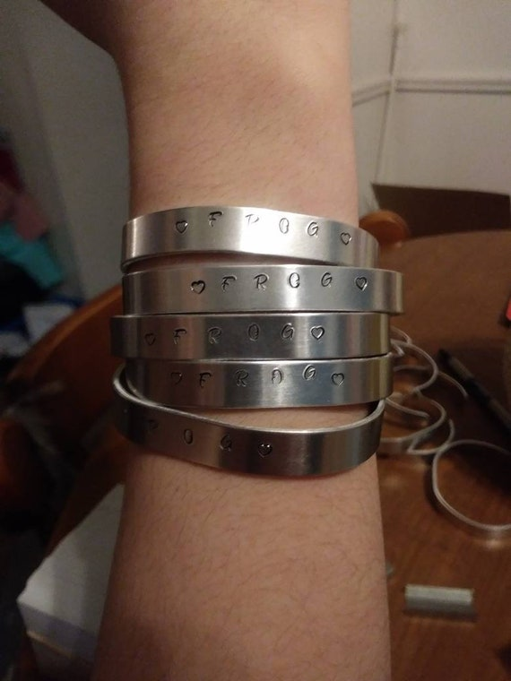 Metal Hand Stamped Bracelet
