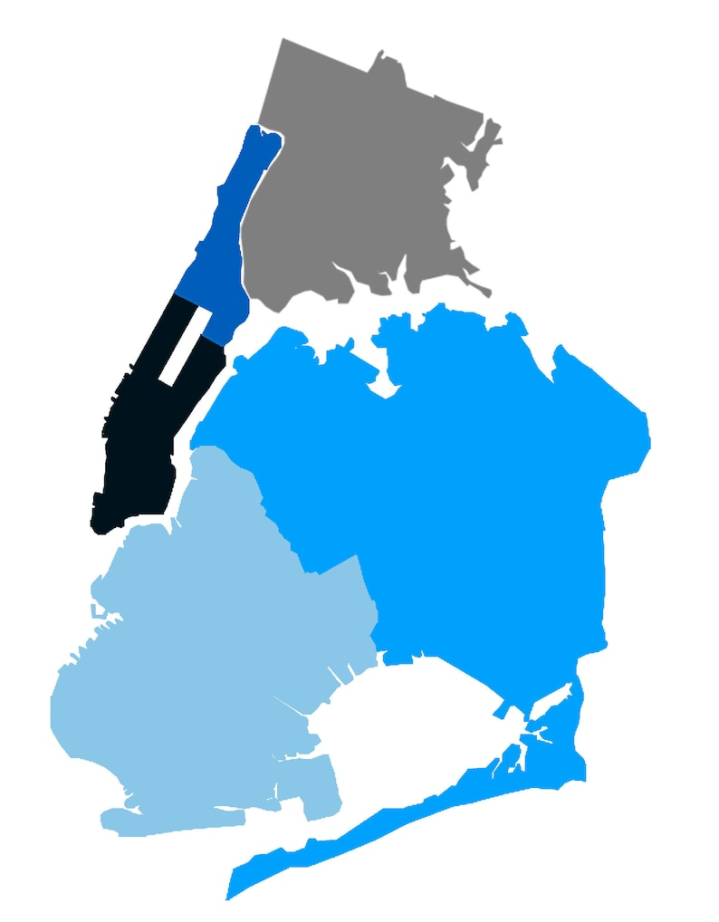 Carte Algerie Psd.Brooklyn Manhattan Queens Bronx Fichier Psd Carte Photoshop Telechargement Bleu Gris Avec Des Couches