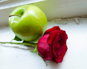 Rose and Apple Photographic Print
