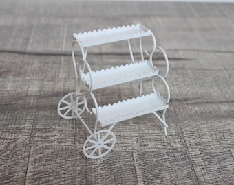 2 Dollhouse Miniature Unfinished Metal Tiny Toy Car #5