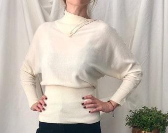 Taille pull en mélange Cachemire Ralph Lauren blanc S 5822a470a70