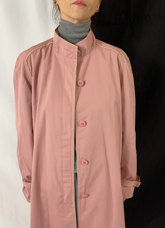 Dusted Pink Trench Coat for Women Size S - M | Vi… - image 7