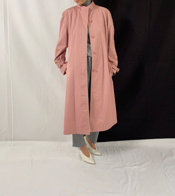 Dusted Pink Trench Coat for Women Size S - M | Vi… - image 6