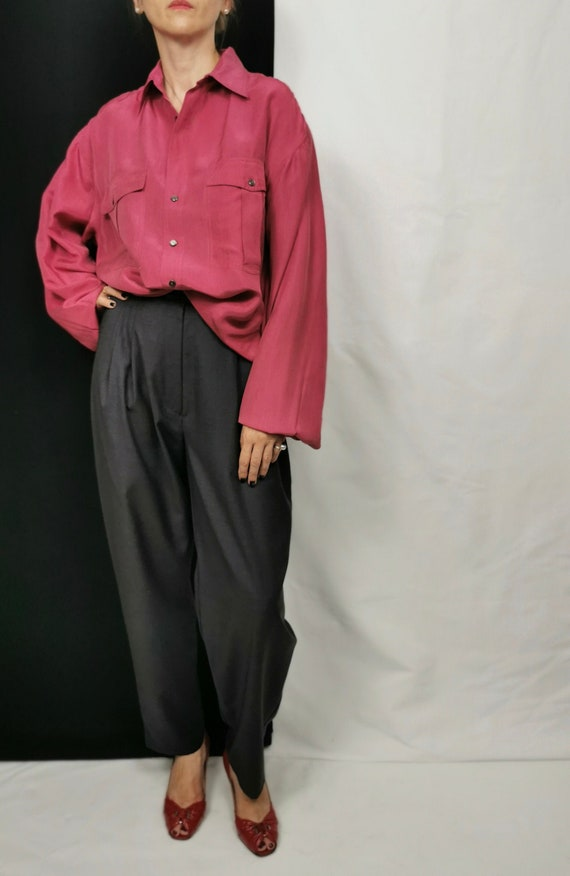 Vintage Silk Blouse for Women Size L - XL | Oversi