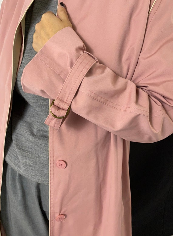 Dusted Pink Trench Coat for Women Size S - M | Vi… - image 9