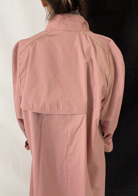 Dusted Pink Trench Coat for Women Size S - M | Vi… - image 10