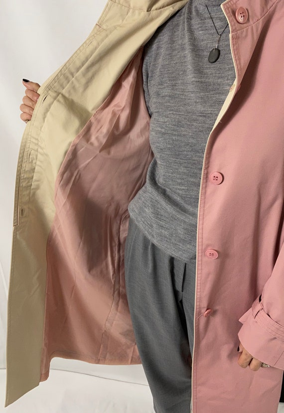 Dusted Pink Trench Coat for Women Size S - M | Vi… - image 8