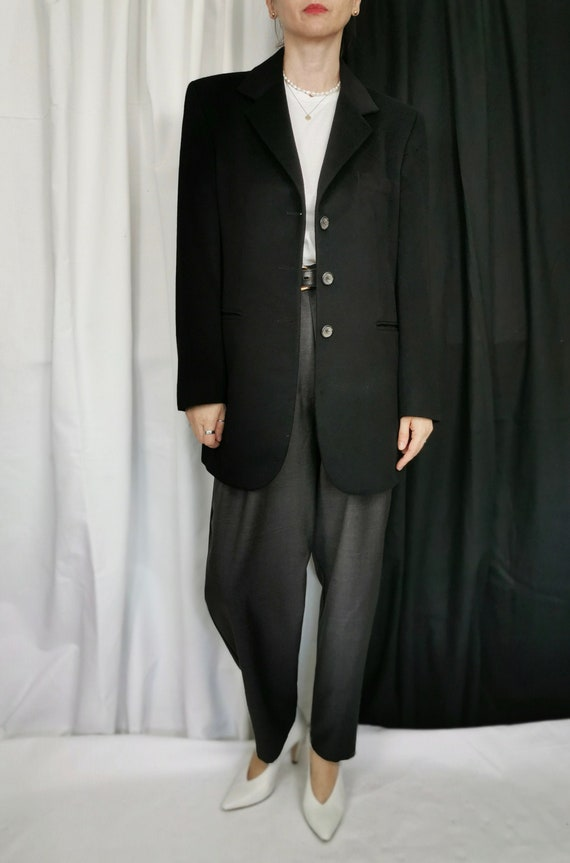 Oversized Blazer for Women | Black Cashmere Blazer