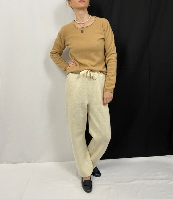 Vintage Cashmere Sweater for Women Size M | Beige