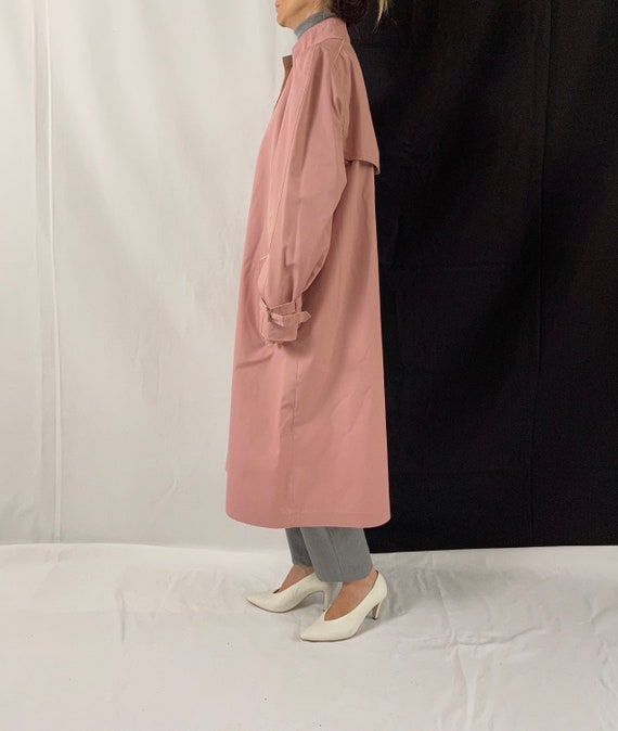 Dusted Pink Trench Coat for Women Size S - M | Vi… - image 3