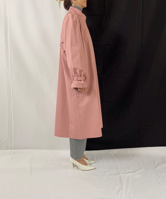 Dusted Pink Trench Coat for Women Size S - M | Vi… - image 5