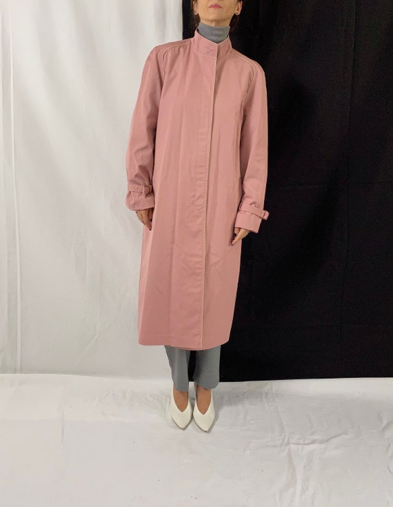 Dusted Pink Trench Coat for Women Size S - M | Vi… - image 2