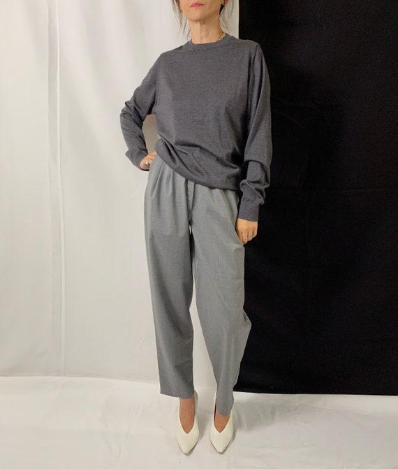 Cashmere Sweater Size S - L | Grey Cashmere Sweate