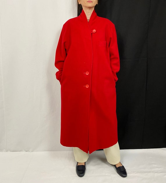 Vintage Coat for Women Size S - M | Red Wool Coat