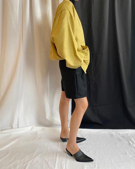 Silk Bomber Jacket Size XL   Vintage Yellow Silk … - image 6