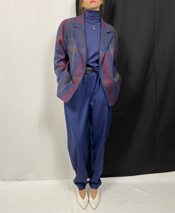 Vintage Wool Blazer for Women size M - L | Plaid W