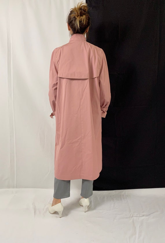 Dusted Pink Trench Coat for Women Size S - M | Vi… - image 4