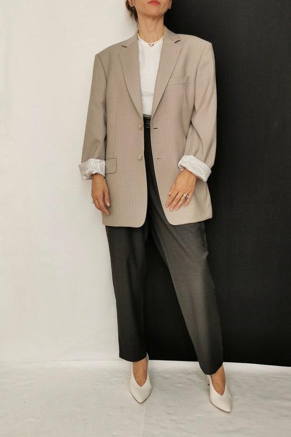 Wool Blazer for Women / Men | Oversized Wool Blaz… - image 4