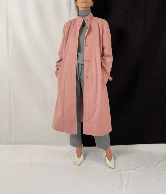 Dusted Pink Trench Coat for Women Size S - M | Vi… - image 1