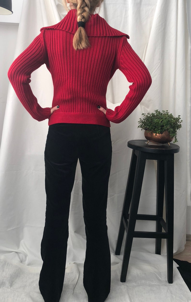 Red Wool Cardigan size XS S