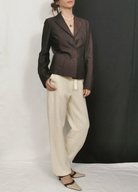 Silk Blazer for Women Size S | Vintage Silk Blazer