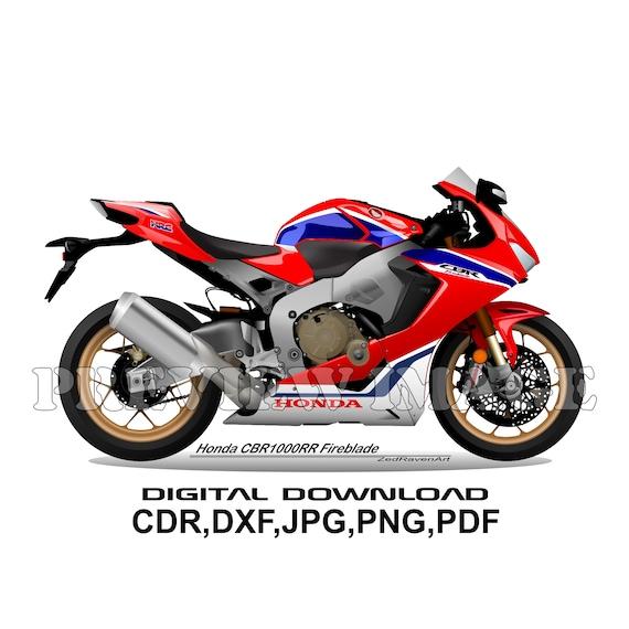T-Shirt für Motorrad HONDA CBR1000 RR bikers CBR 1000RR bike FIREBLADE Moto