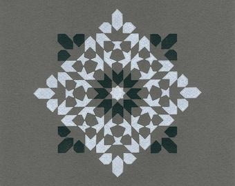 Octagram (Mono) Tile Print