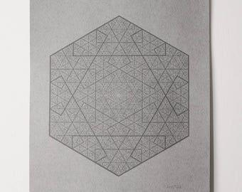 Hex Fractal Print