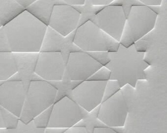 Golden Penta Tile Embossing