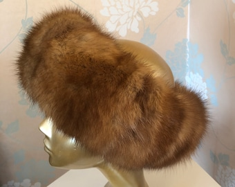 Luxurious Headband, Mink Bandeau, Designer, Warm, Stretchy, Casual and Formal, Lightweight.