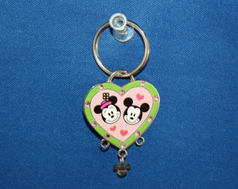 Disney Cutie Mickey & Minnie Mouse Charm Holder Key Chain Keyring Charms DIY Crafts Jewelry or Craft Supplies Charm It High IntenCity