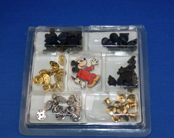 Walt Disney Mickey's Pin & Parts Service Station Kit Pin Backs Disney Catalog Exclusive Repairman Mickey Mouse Collector Pin DC26902