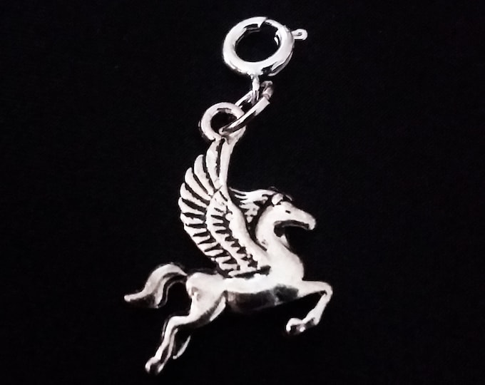 Pegasus Flying Horse Charm Antique Silver Bracelet Charms Necklace Pendant Jewelry Charms Earrings Earring Zipper Pulls Earrings Earring