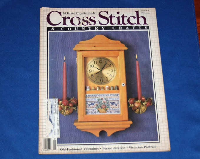 Vintage Cross Stitch & Country Crafts Jan Feb 1988 Magazine 26 Easy Craft Projects DIY Patterns Project Crafts Pattern