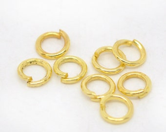 Bulk 200 4mm Jump Rings Gold Plated Open Jump Rings Great for Jewelry Making Supplies & Craft Projects Charms Bracelet Charm